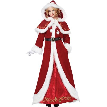 Deluxe Mrs. Claus Adult Costume - Mrs Claus Halloween Costume