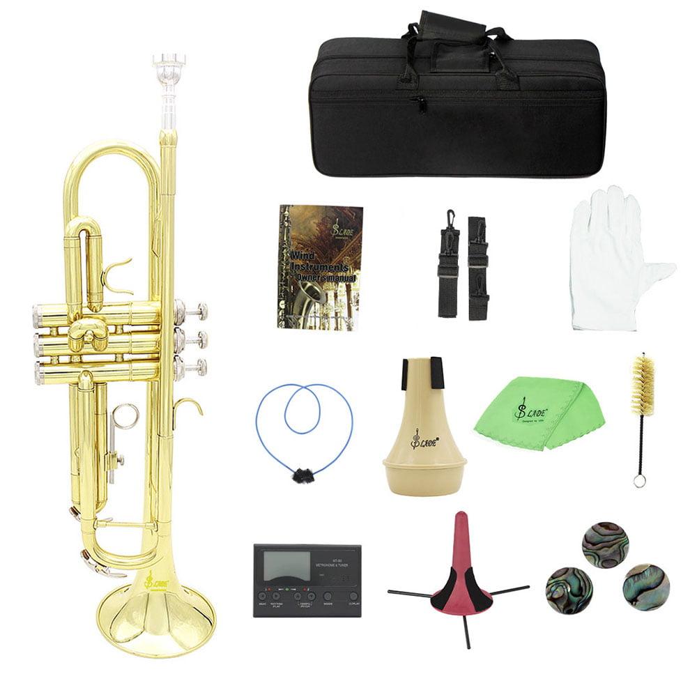 LADE Professional Brass Bb B Flat Trumpet, Red