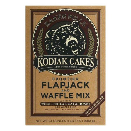 Kodiak Cakes Flapjack and Waffle Mix - Whole Wheat Oat and Honey - Case of 6 - 24 oz. -