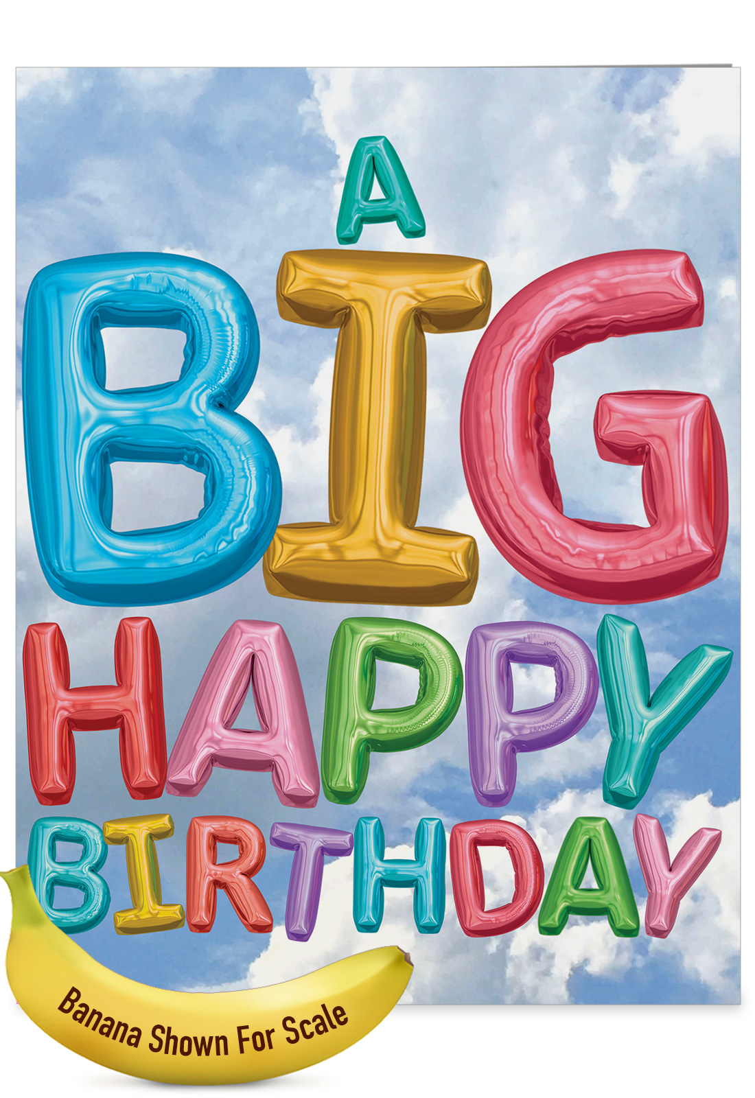 J5651EBDG Jumbo Birthday Greeting Card Inflated Messages With Envelope Big Size 85 X 11
