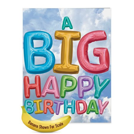 J5651EBDG Jumbo  Birthday Greeting Card: 'Inflated Messages' with Envelope (Big Size: 8.5+ x 11+) - Happy Halloween Messages Card