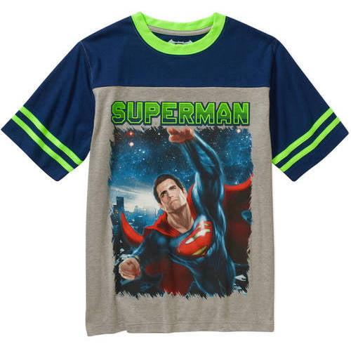 DC Comics Superman Boys Yoke Short Sleeve Graphic Tee