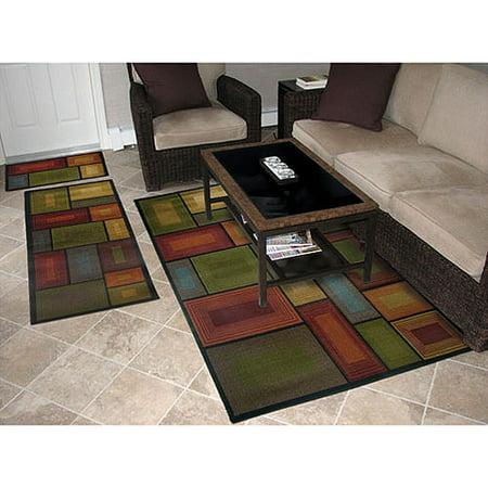 3 Piece Kitchen Rug Set