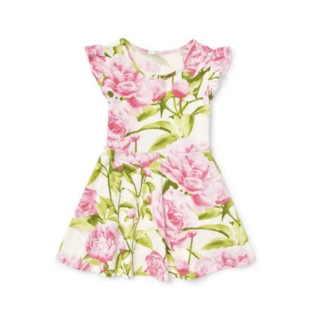 Rose Print Knit Dress (Baby Girls & Toddler Girls) (Girls Knit Dresses)