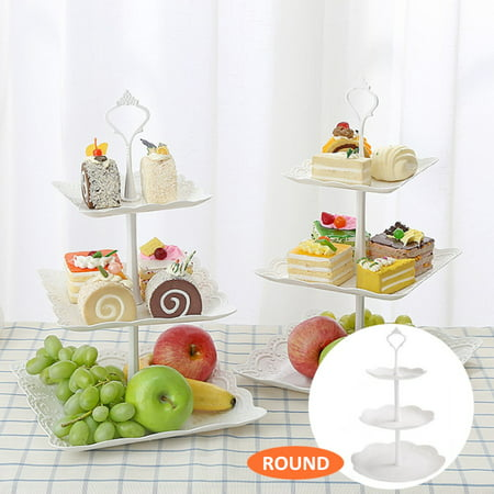 3 Tier Cupcake Stand Cake Holder Dessert Stand Tray Birthday Party Wedding Supplies