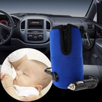 Amerteer Portable Car Baby Bottle Warmer,DC 12V Breast Milk Heater Pouch Heating Bag Universal in-car Baby Feeding Bottle Water Milk Cup Heater Warmer for Travel Trip