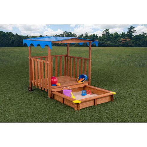 Creative Cedar Designs Sand N Shade 4.67 ft. Rectangular Sandbox and Playhouse by Overstock