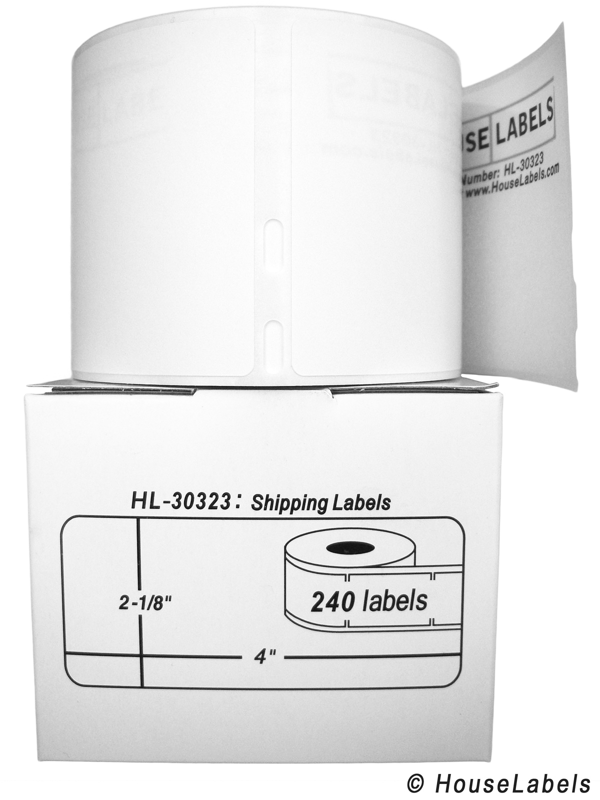 8 Rolls; 240 Labels per Roll of DYMO Compatible 30323 (30573