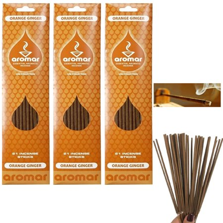 60 Orange Ginger Incense Sticks Fragrance Aroma Therapy Concentrated Scents