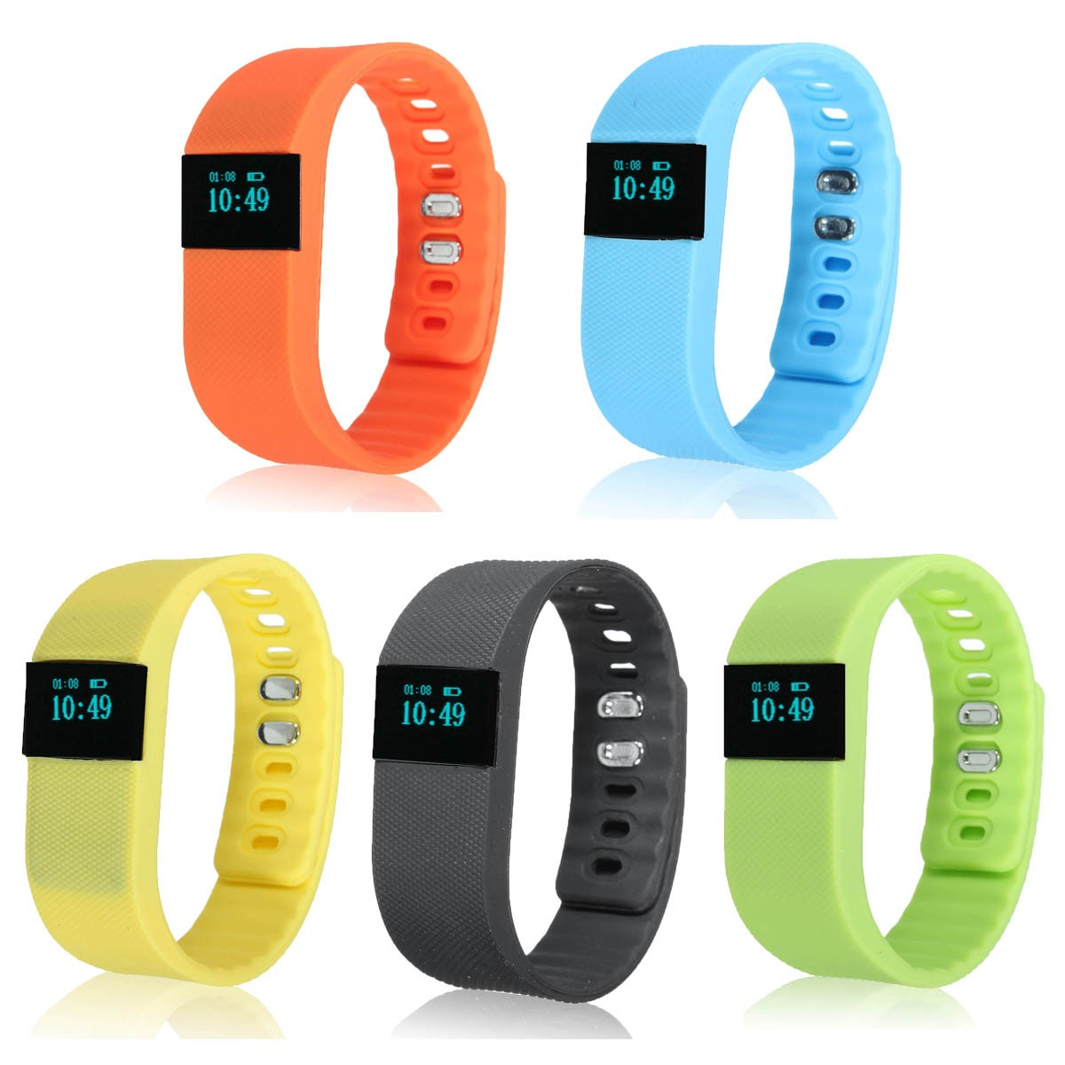 TW64 USB Bluetooth Pedometer Smart Wrist Watch Bracelet Waterproof for Android IOS