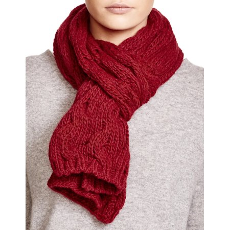 782eaf4ac ECHO DESIGN Ladies Dark Red Cable Knit Scarf Made In Italy - Walmart.com