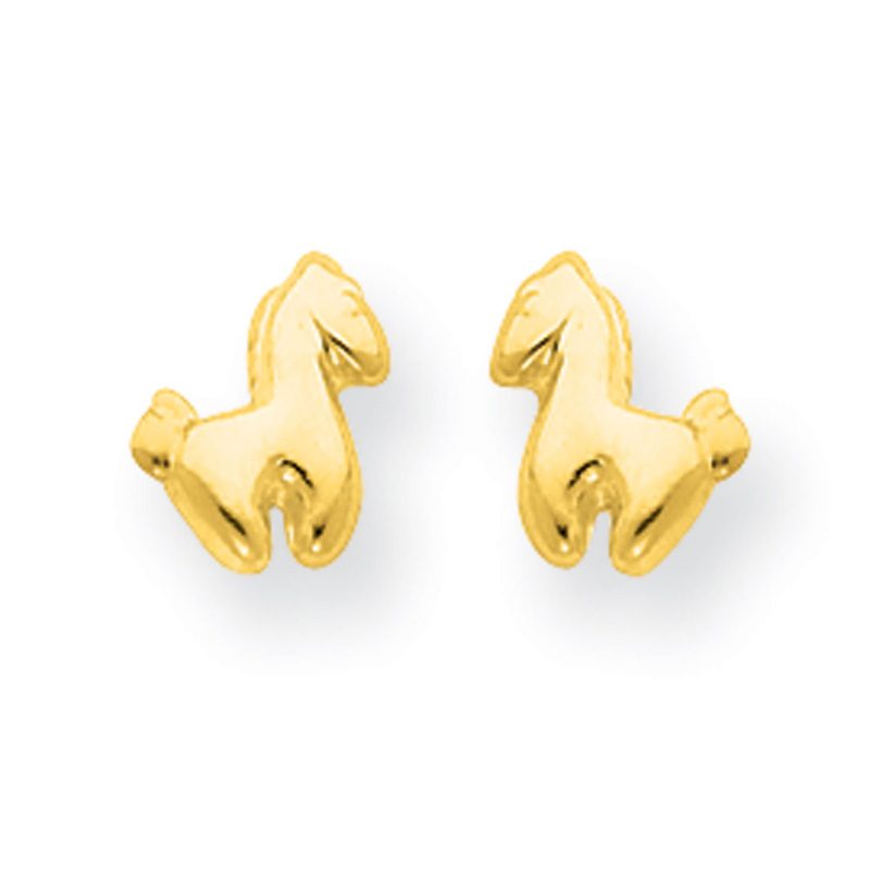14k Madi K Pony Screwback Earrings