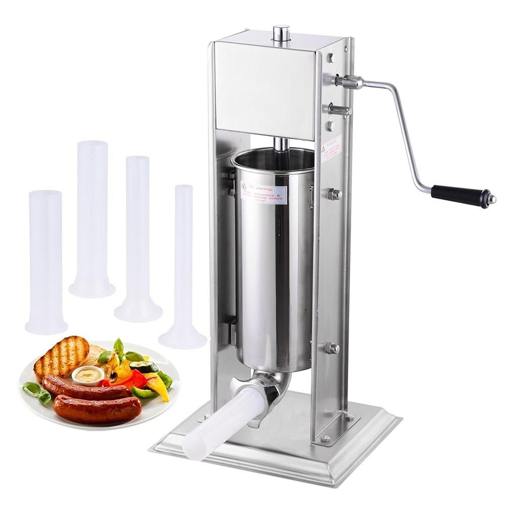 GHP 5L/15Lbs Stainless Steel 2-Speed Manual Sausage Stuff...