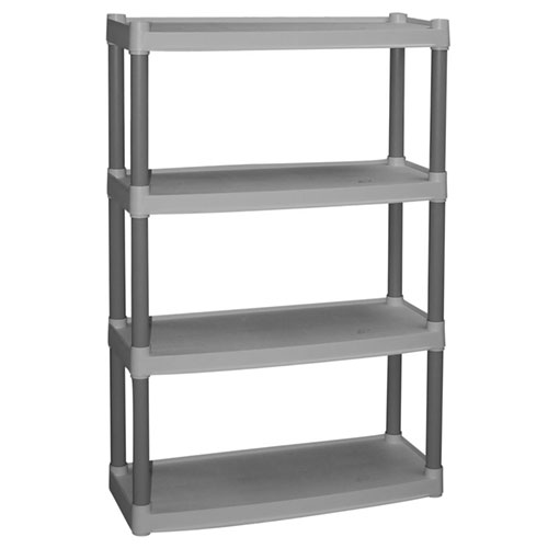 Plano 4 Shelf Heavy Duty Plastic Storage Unit, Light Taupe