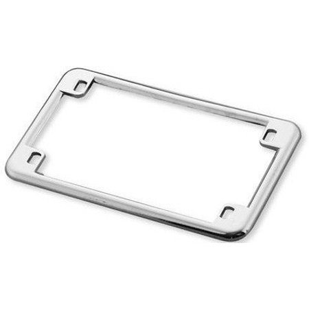 Slim Rim Chrome Motorcycle License Plate Frame, Fits Standard Size ...