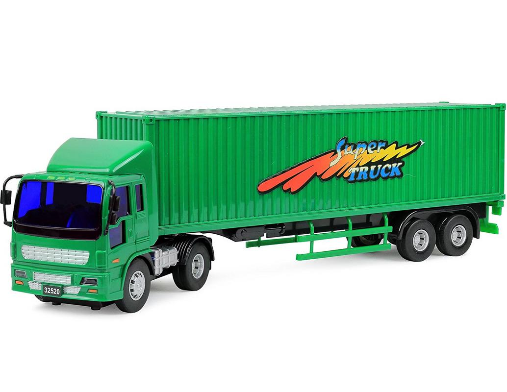 Click N Play Friction Powered Tractor Trailer Truck Toy Vehicle for Kids by Click N' Play