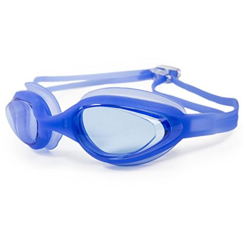 Tekma Sport Anti-Fog Swim Goggles, Easy Adjust Straps with Comfortable Padding for Kids and Adults with Protective Case by