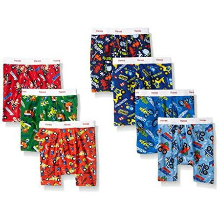 Hanes Toddler Boys' Boxer Brief Underwear, 7 Pack (Toddler Boys) Best Boxers Underwear