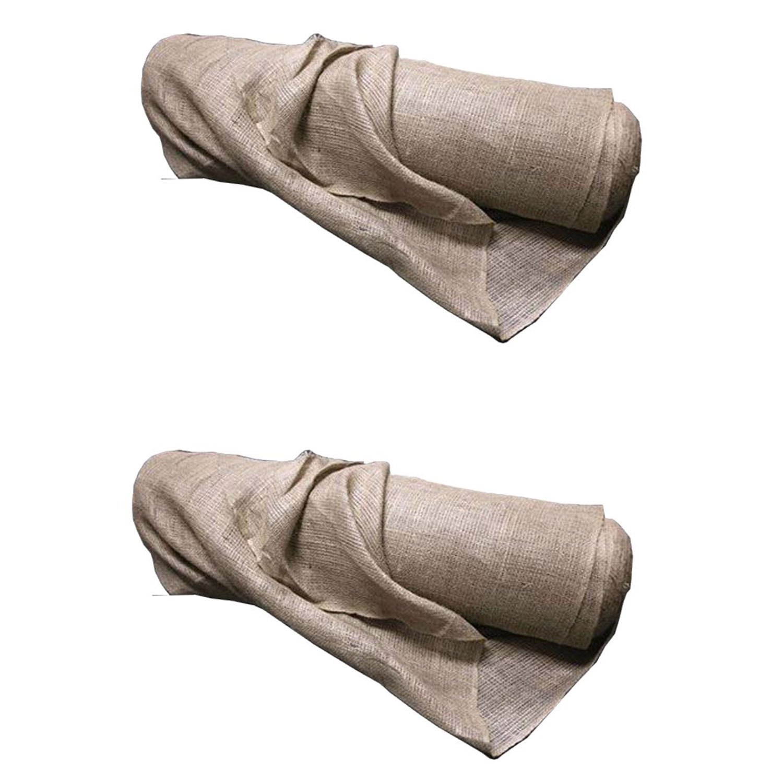 DeWitt 4 x 250' 5.5 Oz Natural Gardening Landscape Burlap Fabric Roll (2 Pack)