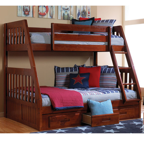 Cambridge Stanford Twin Over Full Bunk Bed with Twin Slide-out Trundle by CMF