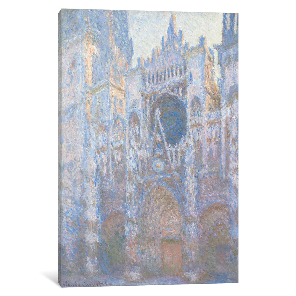 iCancas Rouen Cathedral II Gallery Wrapped Canvas Art Print by Claude Monet