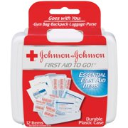Johnson & Johnson First Aid To Go! Travel Kit, 12 pieces
