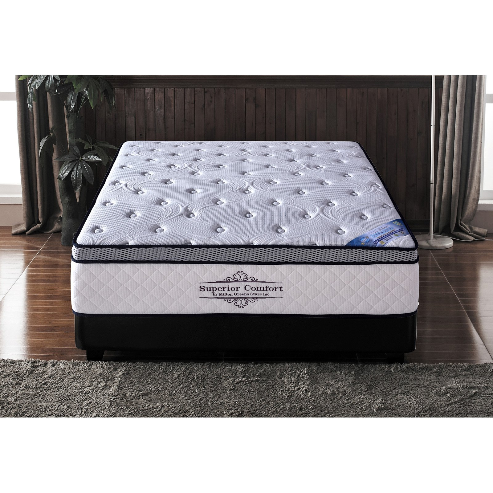 Milton Greens Stars Superior Comfort 15 in. Memory Foam and Pocketed Coil Hybrid Mattress