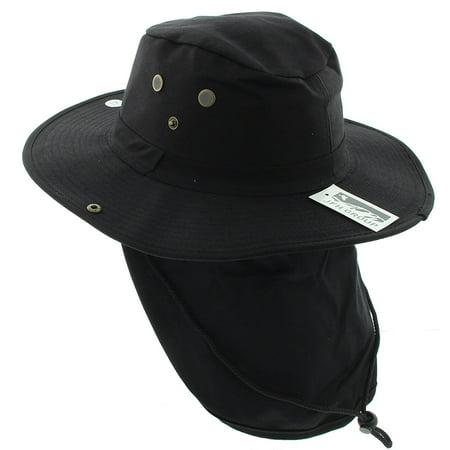 0e1acb4138265 JFH Wide Brim Bora Booney Outdoor Safari Summer Hat w Neck Flap   Sun  Protection - Walmart.com