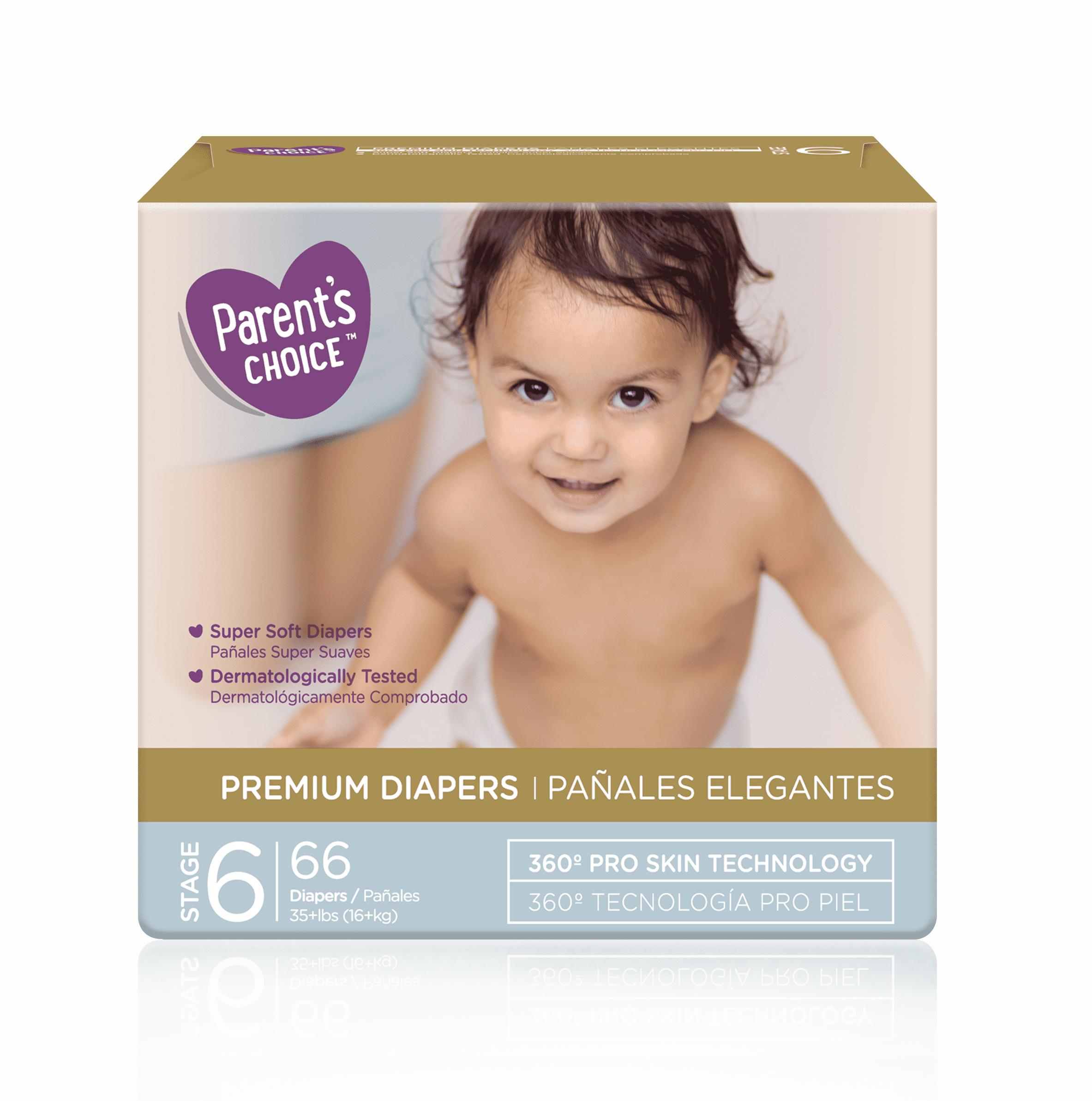 Parent's Choice Premium Diapers, Size 6, 66 Diapers