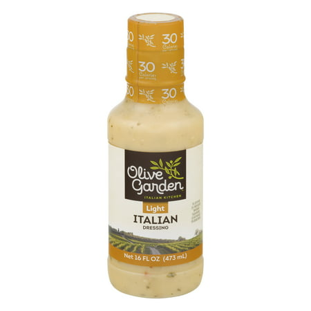 (2 Pack) Olive Garden Light Italian Dressing 16 FL Oz Plastic
