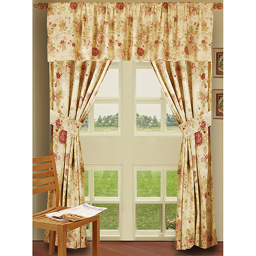 Global Trends Antique Rose Curtain Panel, Set of 2 by Greenland Home Fashions