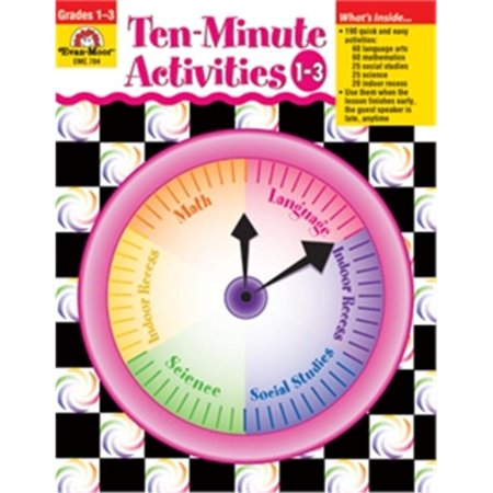 Evan-Moor Educational Publishers 784 Ten - Minute Activities, Grades 1 - 3