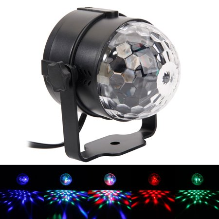 Stage Light 3w Rgb Led Remote Control Sound Auto Mini Rotating Ball Bar Party Lighting Alight