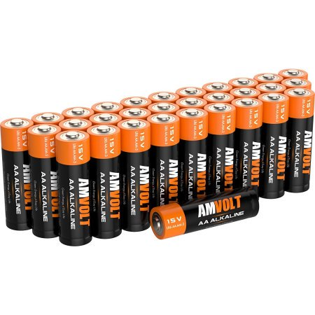 28 Pack AA Batteries [Ultra Power] Premium LR6 Alkaline Battery 1.5 Volt Non Rechargeable Batteries for Watches Clocks Remotes Games Controllers Toys & Electronic Devices - Best Industrial