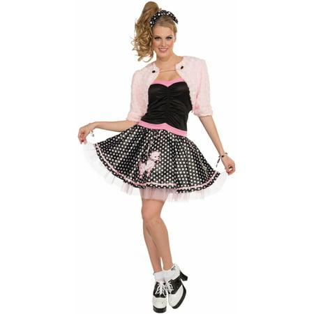 Women's 14-16  Pink Deluxe Poodle Skirt 50s Sock Hop Costume](50s Sock Hop Costumes)