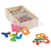 52 Pc. Math and Alphabet Magnet Set- Magnetic Wooden Refrigerator Letters and Numbers by Hey! Play!