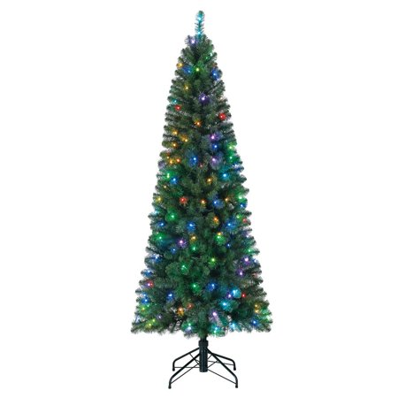 Home Heritage 7 Foot Pre-Lit Christmas Tree with LED Multi Function Lights - image 1 de 7