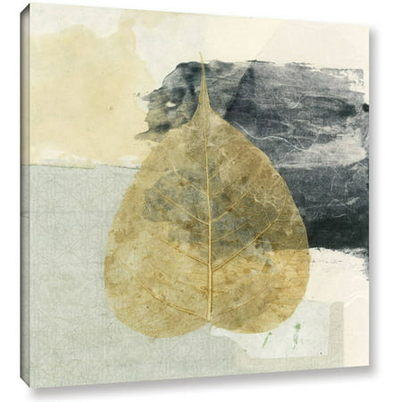 Artwall Elena Ray   Wabi Sabi Bodhi Leaf Collage 3   Gallery Wrapped Canvas