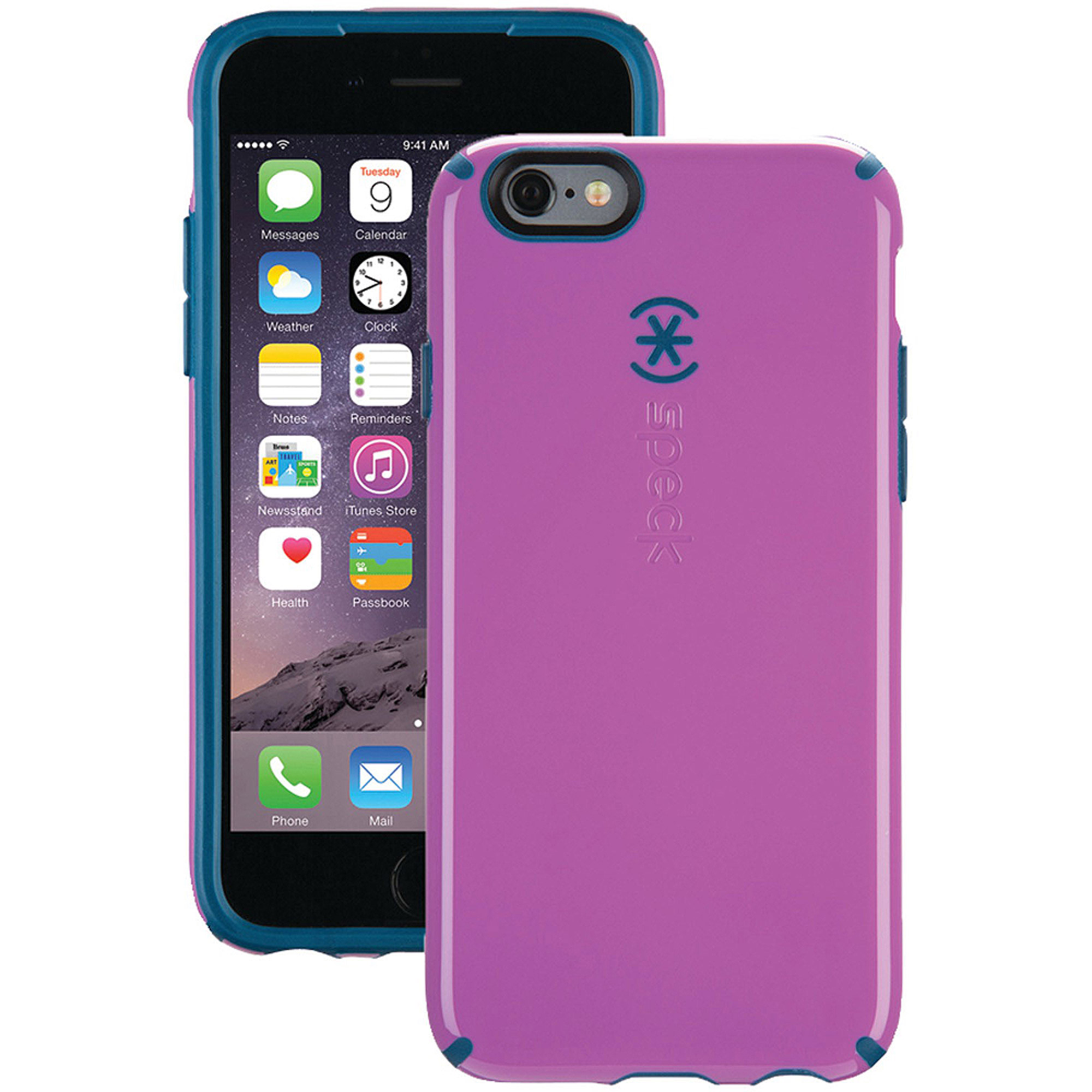 Speck  CandyShell Grip Cover for iphone 6S Beaming Orchid Purple Deep Sea Blue
