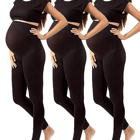 0f33bb09c584c5 Shop Pretty Girl - Maternity Leggings For Pregnancy - Seamless Solid Color Nursing  Clothes - Walmart.com