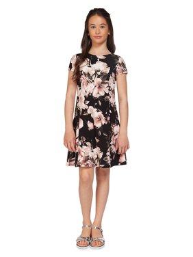 Girl's Printed Short-Sleeve Dress