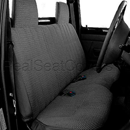 Custom Truck Seat (RealSeatCovers Seat Cover for Toyota Tacoma Rcab Xcab 10mm Thick Triple Stitched Custom made for Exact Fit A25 (Dark Gray))