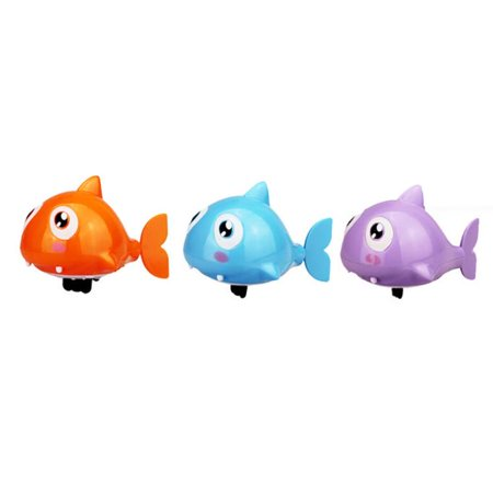 New amusing Swimming Ugly fish Operated Pool Bath Cute Toy Wind-Up Kids Toy