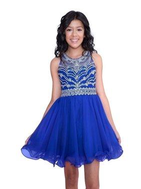 e26e86cafa Product Image Calla Collection Girls Royal Blue Short Special Occasion  Tween Dress. Calla Collection USA