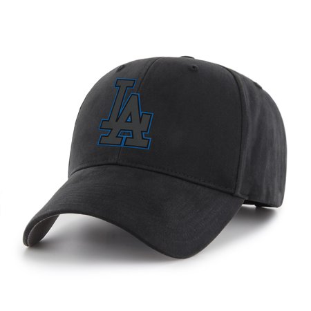 Pewter La Dodgers Baseball - MLB Los Angeles Dodgers Black Mass Basic Adjustable Cap/Hat
