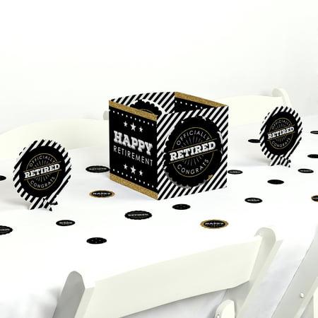 Happy Retirement - Retirement Party Centerpiece & Table Decoration Kit - Retirement Centerpieces
