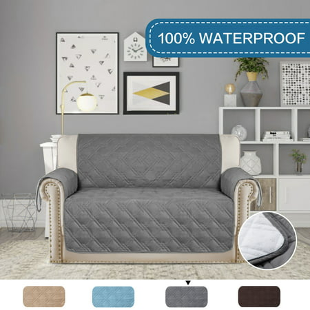 Marvelous Full Waterproof Quilted Furniture Cover Prevent Stains For 2 Seats Sofa Non Slip Keep In Space 75 Inch X 90 Inch Love Seat Gray Caraccident5 Cool Chair Designs And Ideas Caraccident5Info