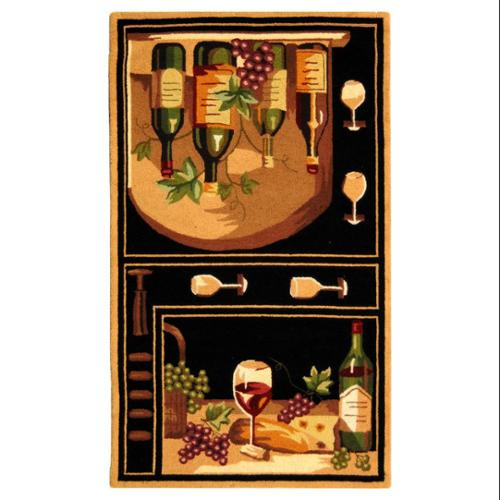 Safavieh Black Rug with Wine & Grapes (7 ft. 6 in. x 9 ft...
