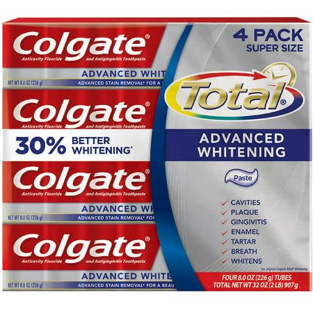 Colgate Total Advanced Whitening Toothpaste 8oz 226g 4-pack (Colgate Total Advanced Whitening)