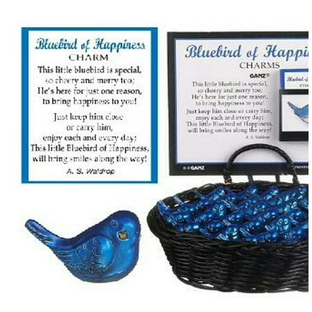 Bluebird of Happiness Tiny Bluebird Charm - By Ganz